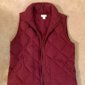 J. Crew Excursion Quilted Down Vest Size XS
